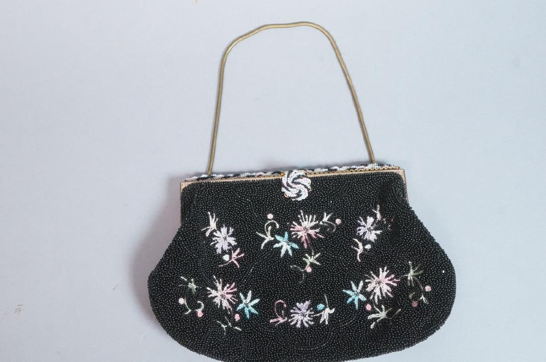 4 Vintage Evening Bags Purses. 2 seed bead and em - 4