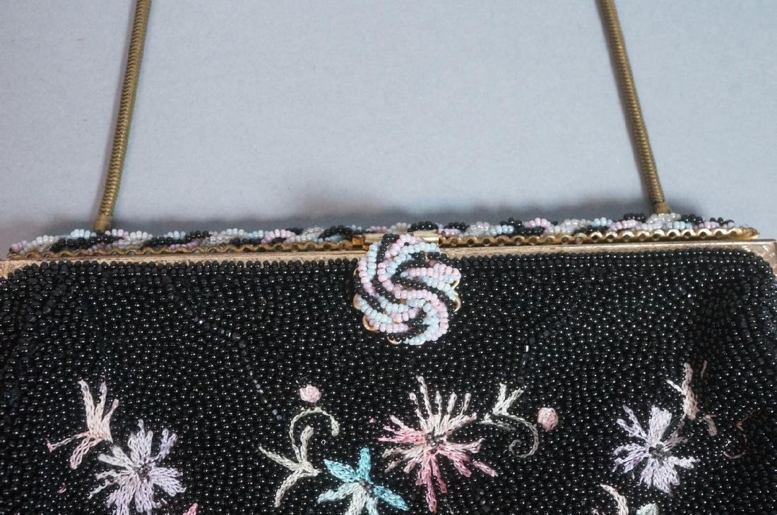 4 Vintage Evening Bags Purses. 2 seed bead and em - 5
