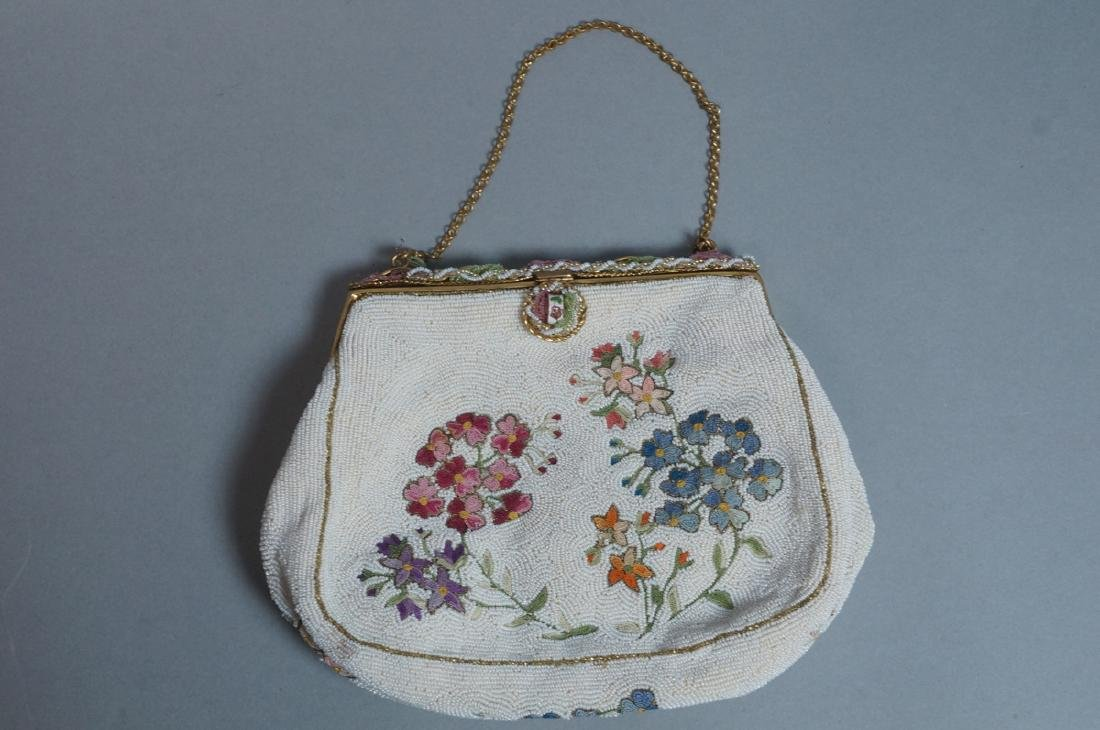 4 Vintage Evening Bags Purses. 2 seed bead and em - 6