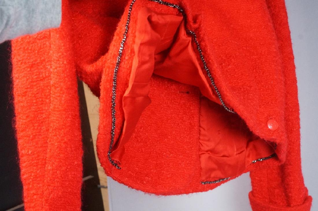 Vintage Authentic CHANEL BOUTIQUE Red Wool Jacket - 6