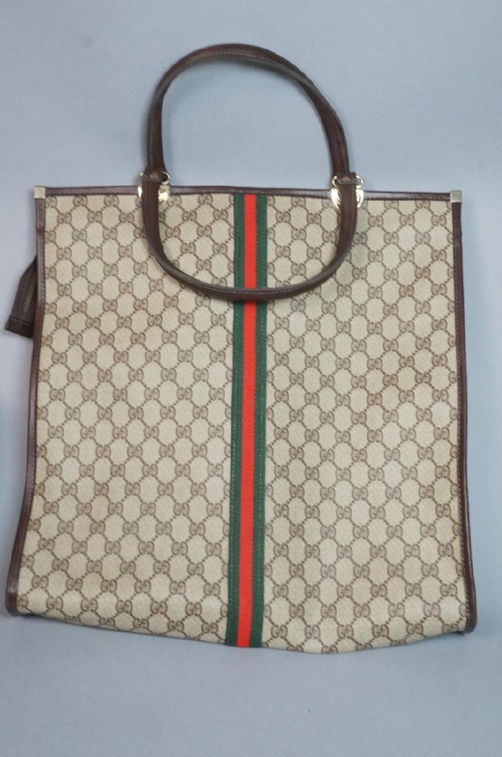 2 pc GUCCI Logo Bag Suitcase. Two strap handles s - 2