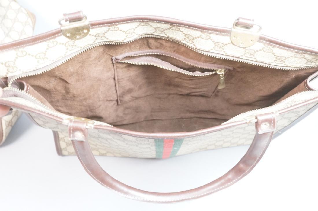 2 pc GUCCI Logo Bag Suitcase. Two strap handles s - 4