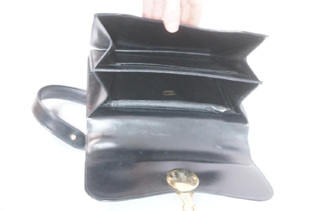 Black Leather GUCCI Handbag. Hand strap converts - 3