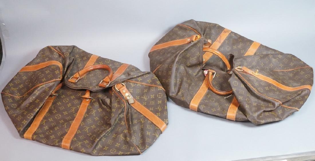 2 LOUIS VUITTON Duffle Bags. Hand straps.