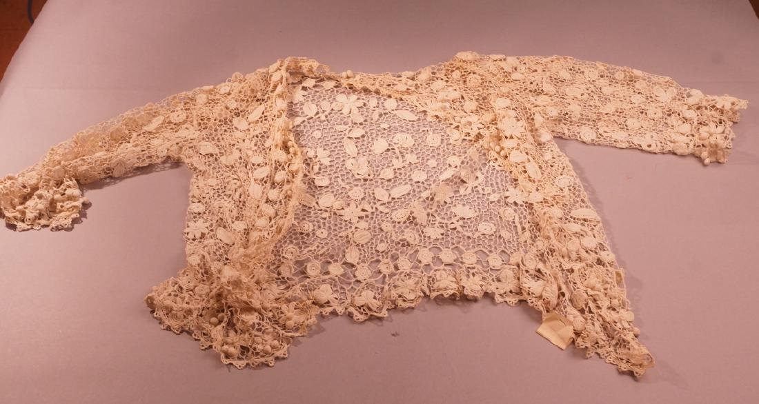 Vintage cream crocheted lace Ladies Jacket. Fine