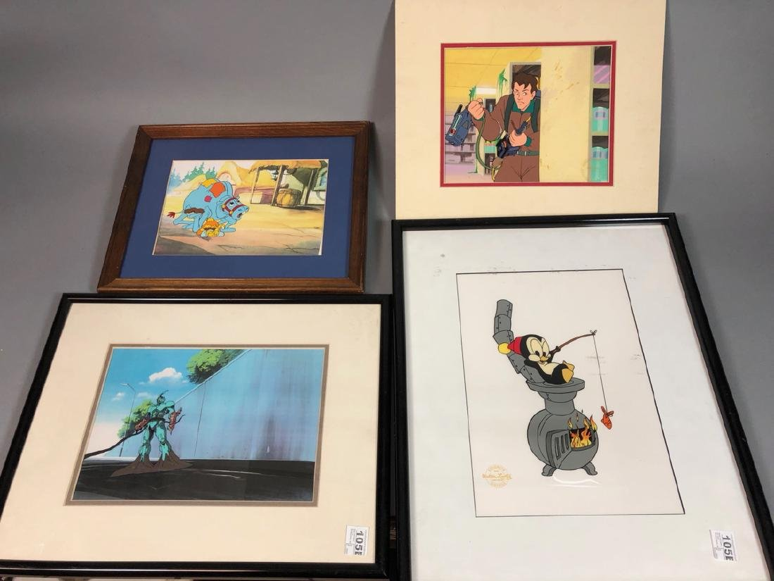 4pcs Animation Art Cels. Ghostbusters, etc.