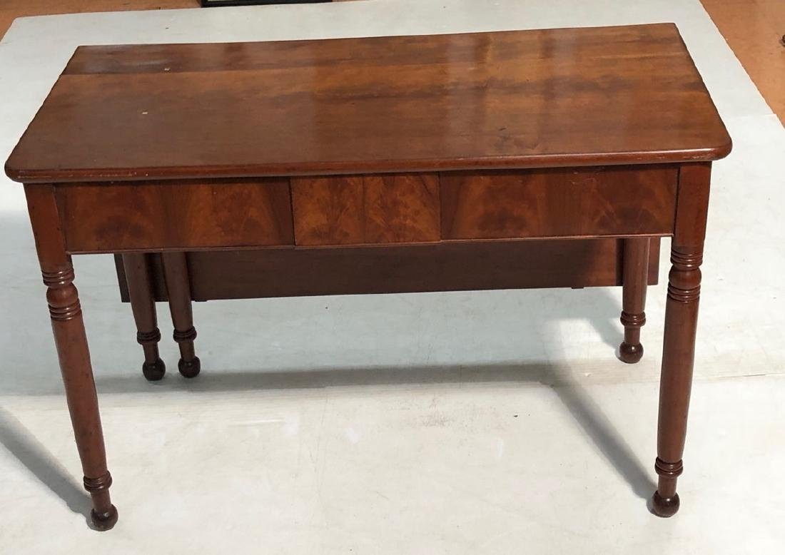 Antique Single Drop Table with Turned Legs.  Serv