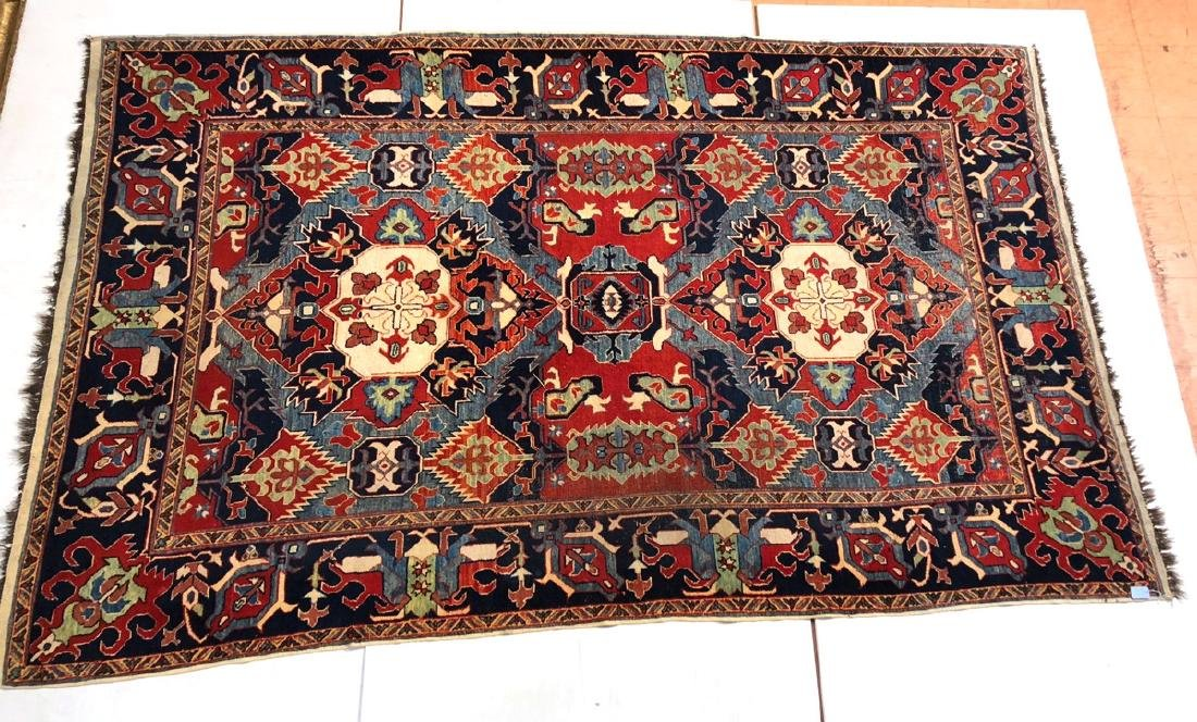 10'6 x 6'7 Handmade Oriental Carpet Rug.  Overall