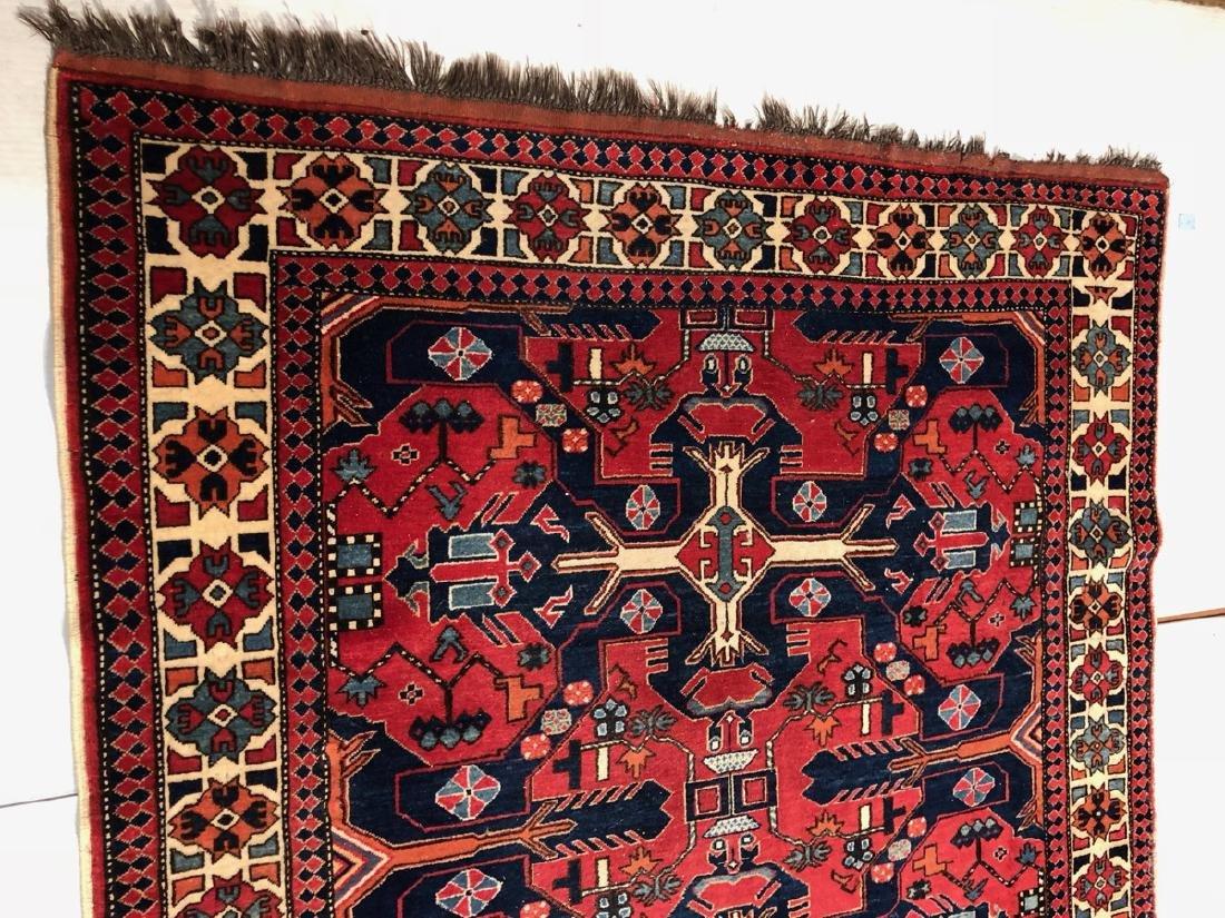 9 x 6.5 Handmade Oriental Carpet with Geometric p - 2