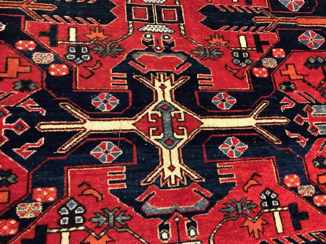 9 x 6.5 Handmade Oriental Carpet with Geometric p - 5