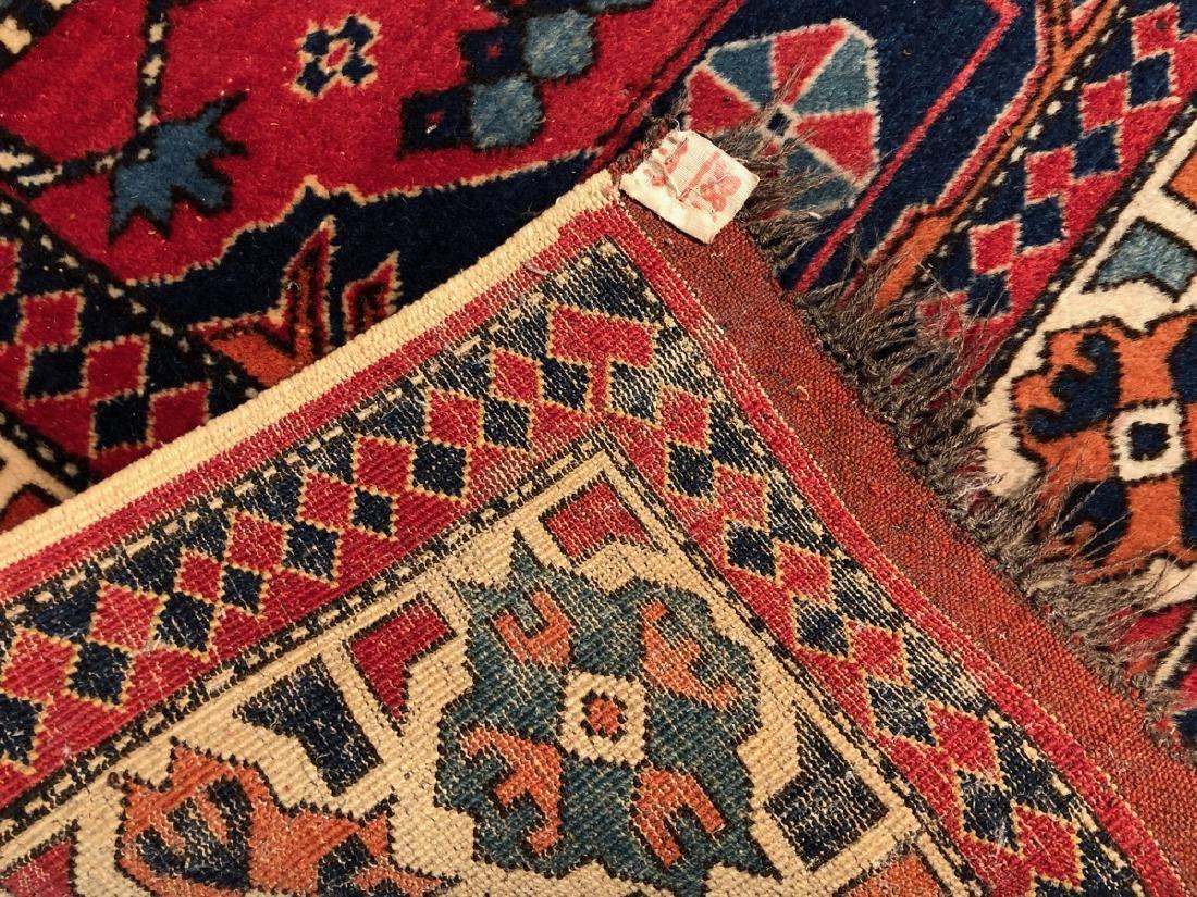 9 x 6.5 Handmade Oriental Carpet with Geometric p - 6