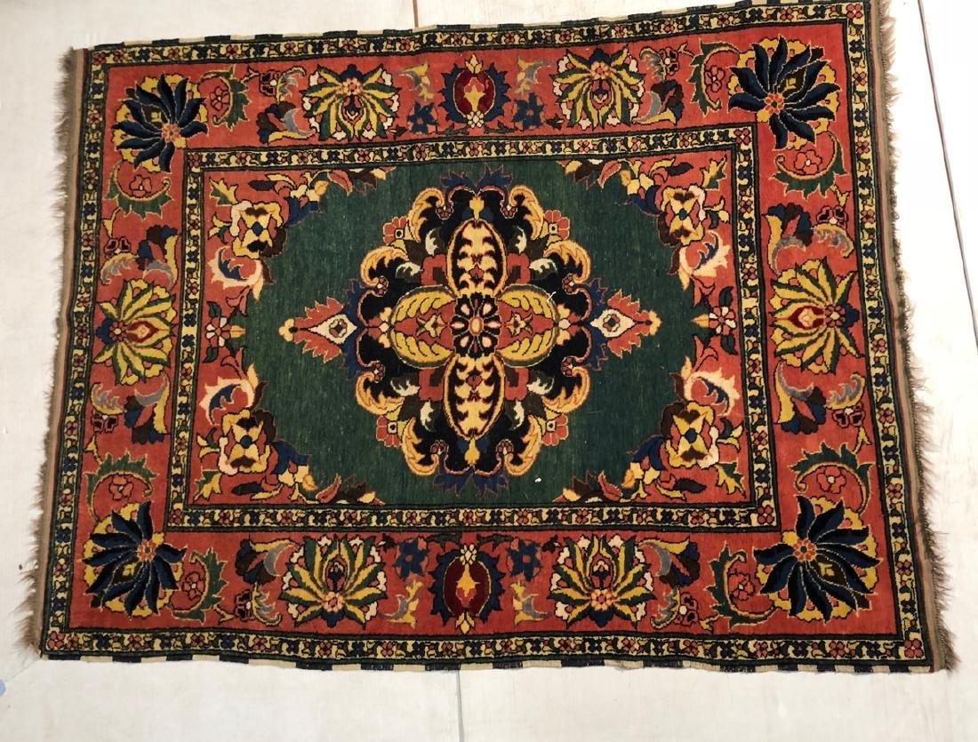 6'6 x 5'1 Handmade Oriental Carpet Rug with Cente