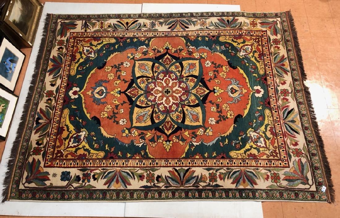 9'6 x 7 Handmade Oriental Carpet Rug.  Center Med