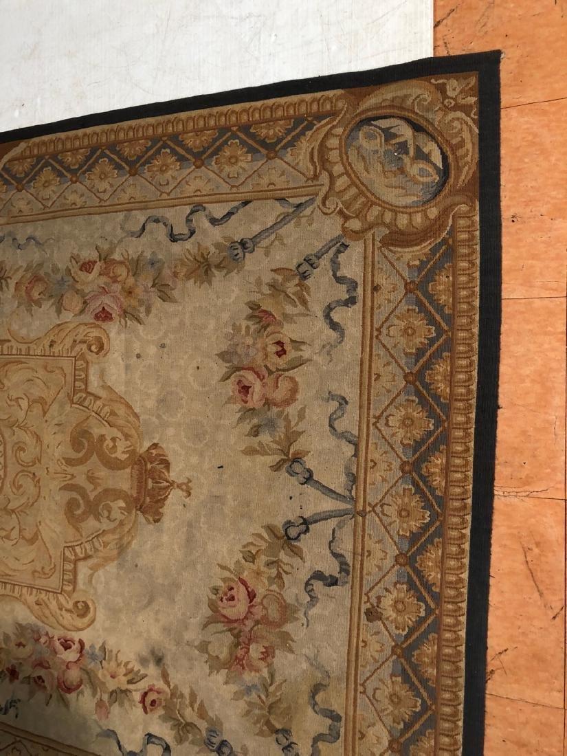 8'2 x 5'11 Aubusson Style Carpet Rug. Center Meda - 3