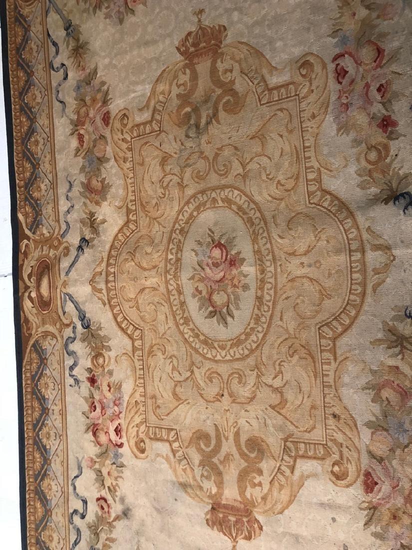 8'2 x 5'11 Aubusson Style Carpet Rug. Center Meda - 4