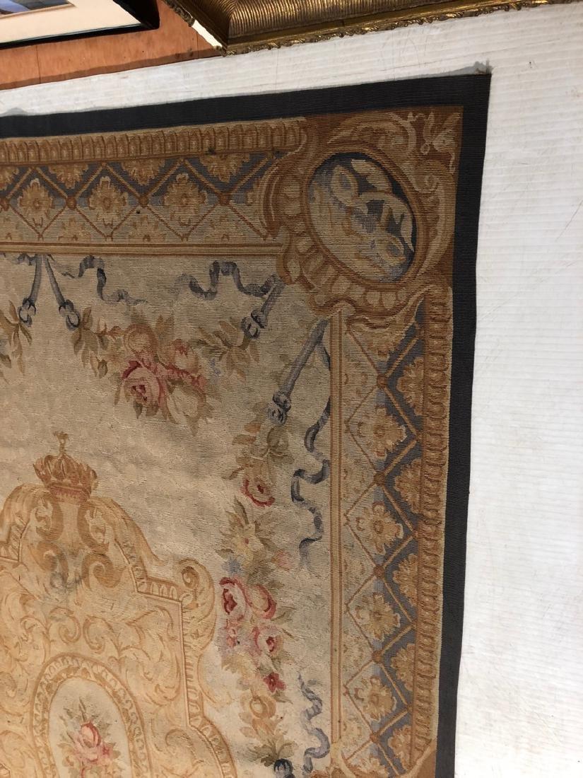 8'2 x 5'11 Aubusson Style Carpet Rug. Center Meda - 5