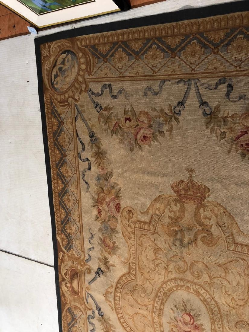 8'2 x 5'11 Aubusson Style Carpet Rug. Center Meda - 6