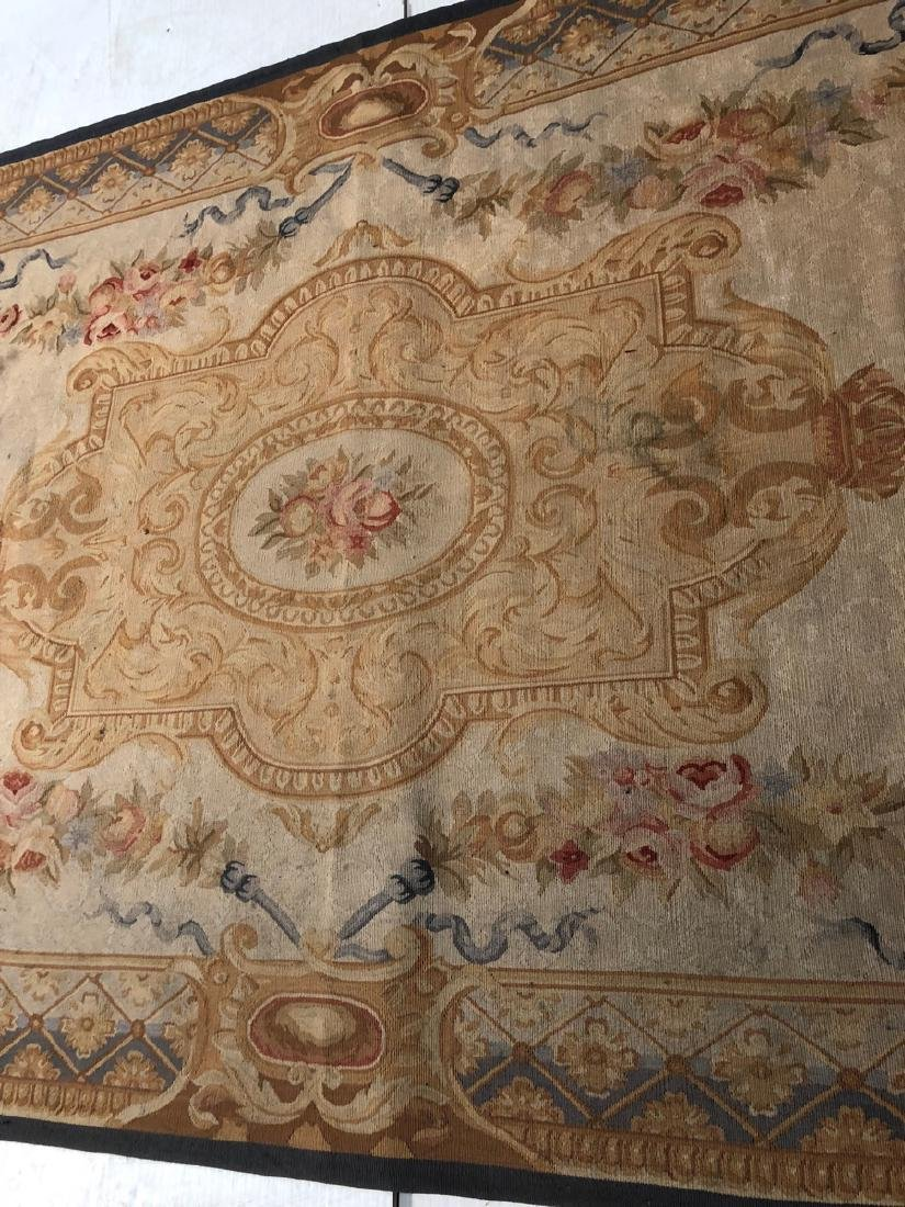 8'2 x 5'11 Aubusson Style Carpet Rug. Center Meda - 7