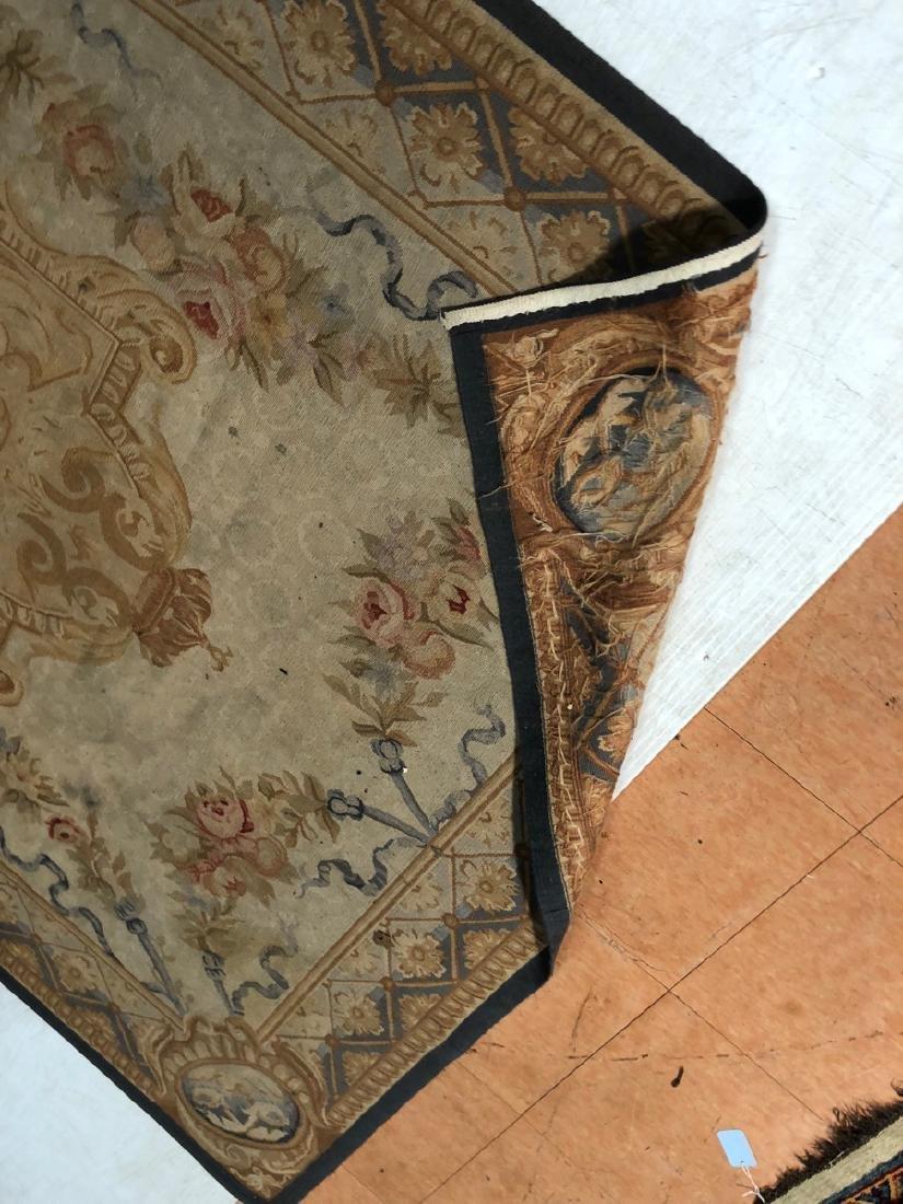 8'2 x 5'11 Aubusson Style Carpet Rug. Center Meda - 9