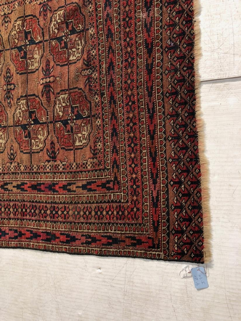 4'6 x 3'4 Handmade Oriental Mat Carpet Rug.  Geom - 2