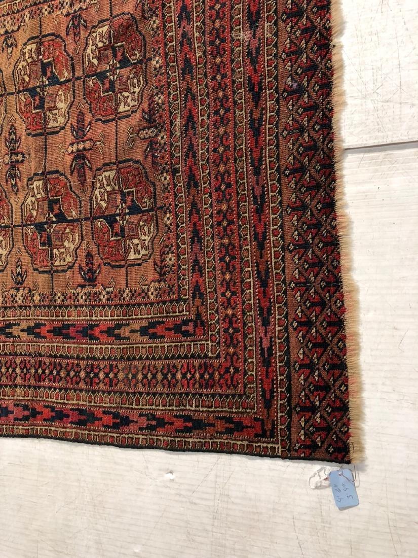 4'6 x 3'4 Handmade Oriental Mat Carpet Rug.  Geom - 3