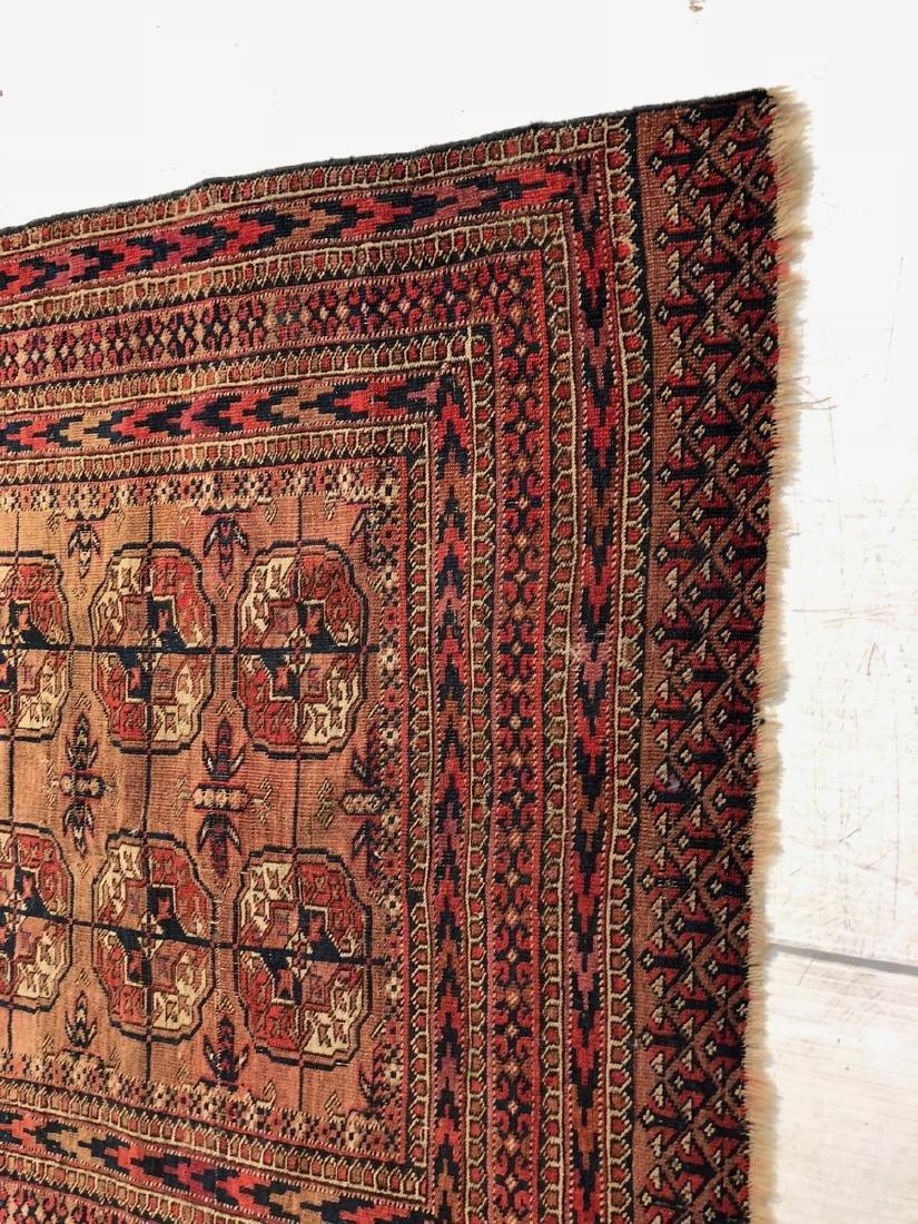 4'6 x 3'4 Handmade Oriental Mat Carpet Rug.  Geom - 4
