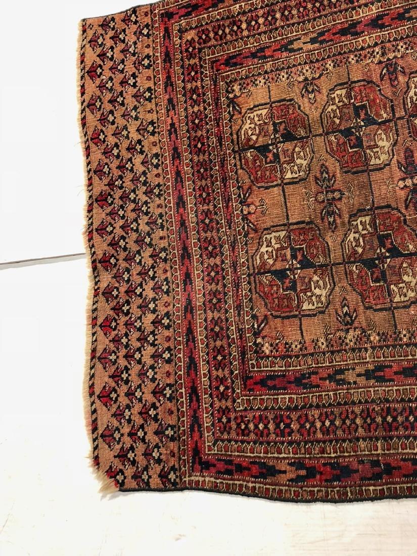4'6 x 3'4 Handmade Oriental Mat Carpet Rug.  Geom - 5