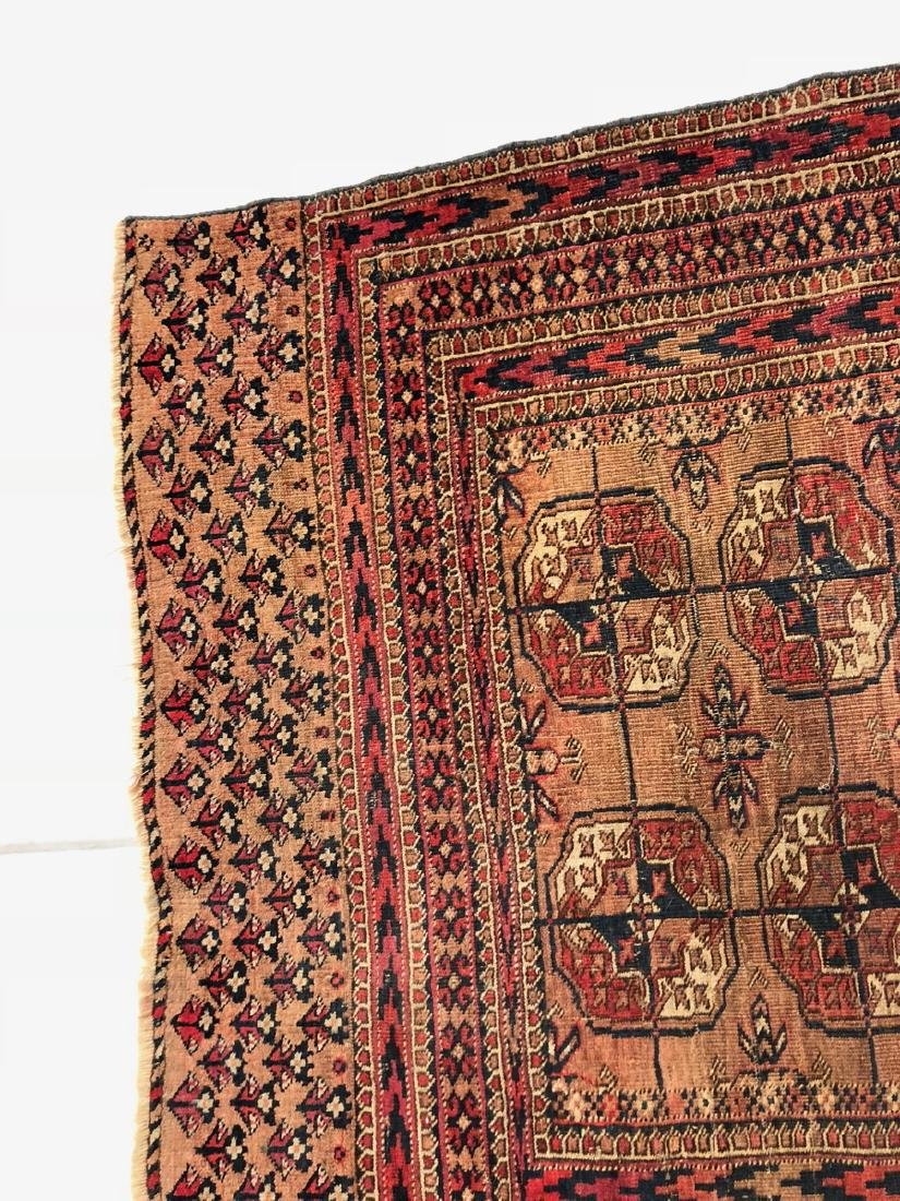 4'6 x 3'4 Handmade Oriental Mat Carpet Rug.  Geom - 6