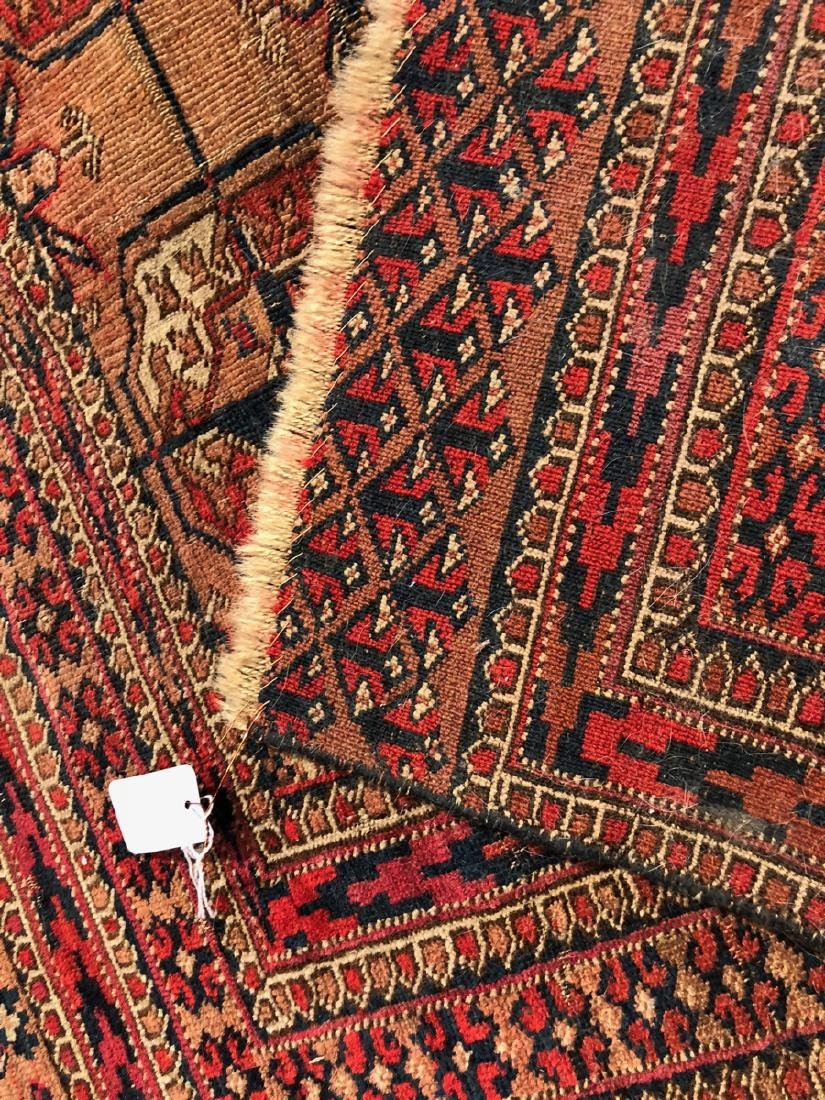 4'6 x 3'4 Handmade Oriental Mat Carpet Rug.  Geom - 7