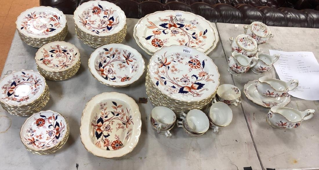 76pcs Booth's England FRESIAN Set of China. Flora