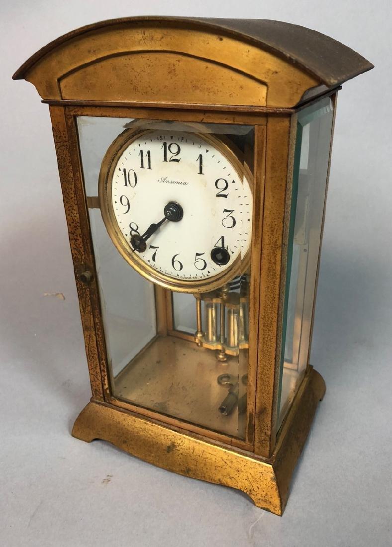 Ansonia Crystal Regulator Clock.