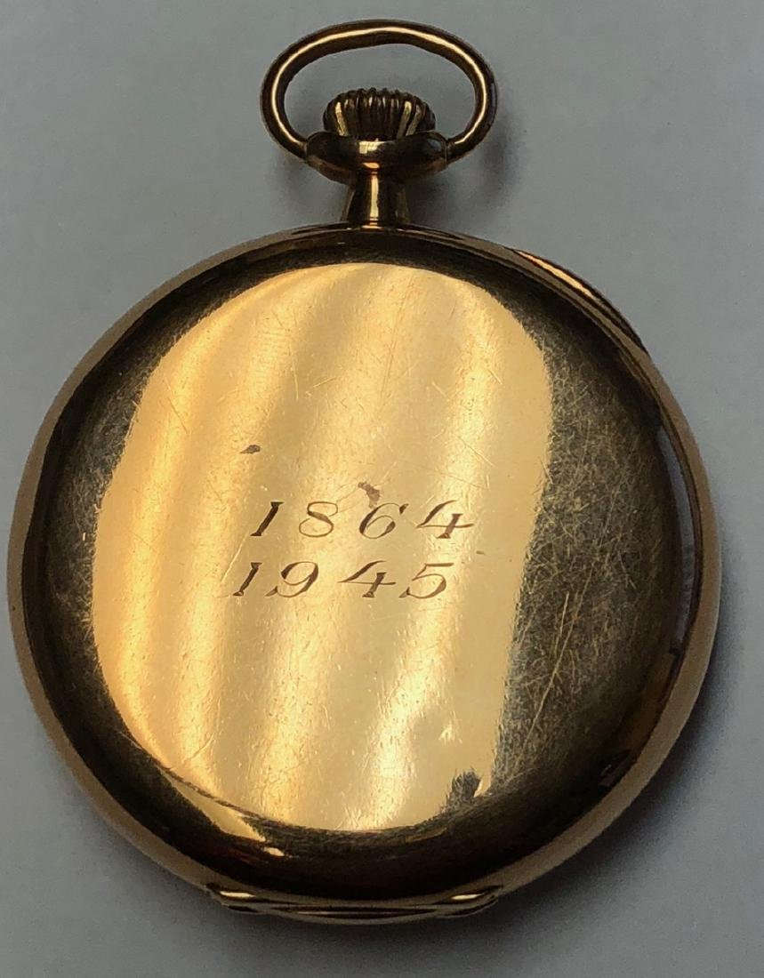 E HOWARD & Co 14K Gold Pocket watch with open fac - 8