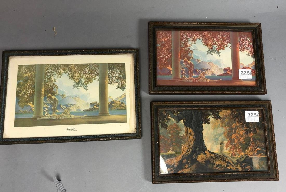 3pcs Small Maxfield Parrish Original Prints in Or