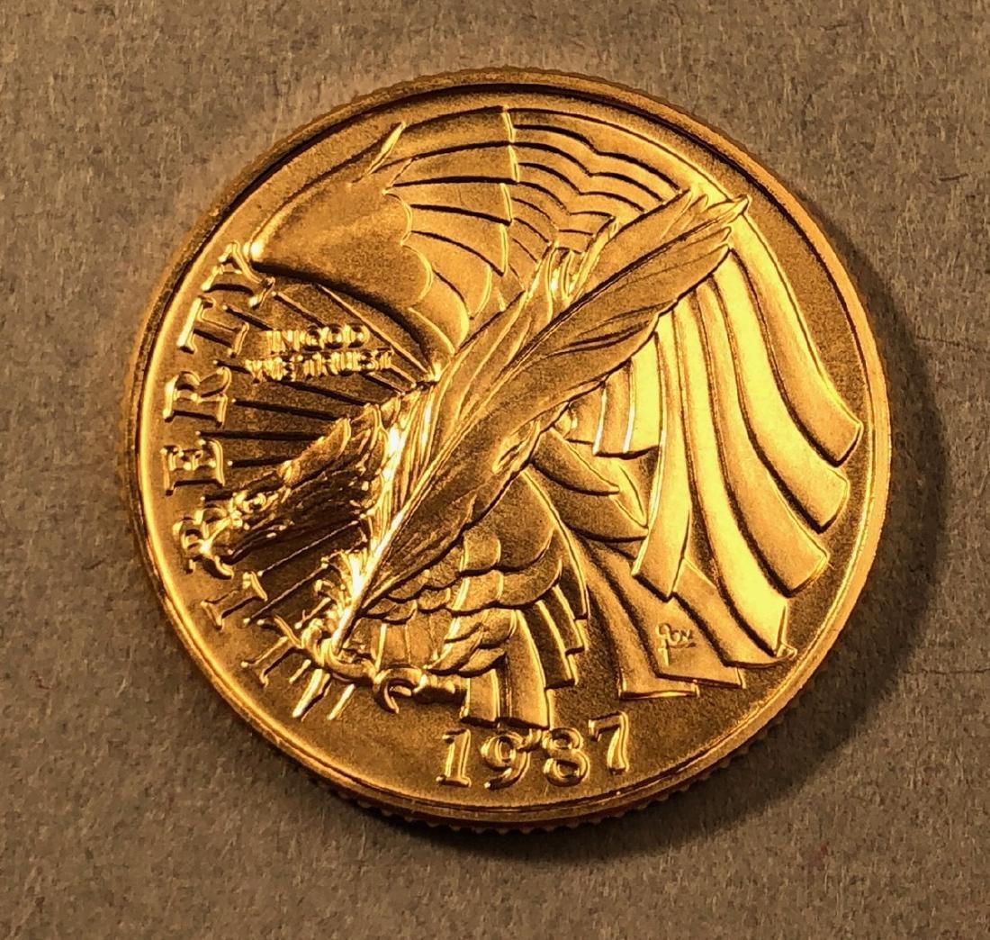 1987 Constitution 5 Dollar Gold Coin.  In origina