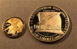 United States Constitution Coins. 1987. Proof o