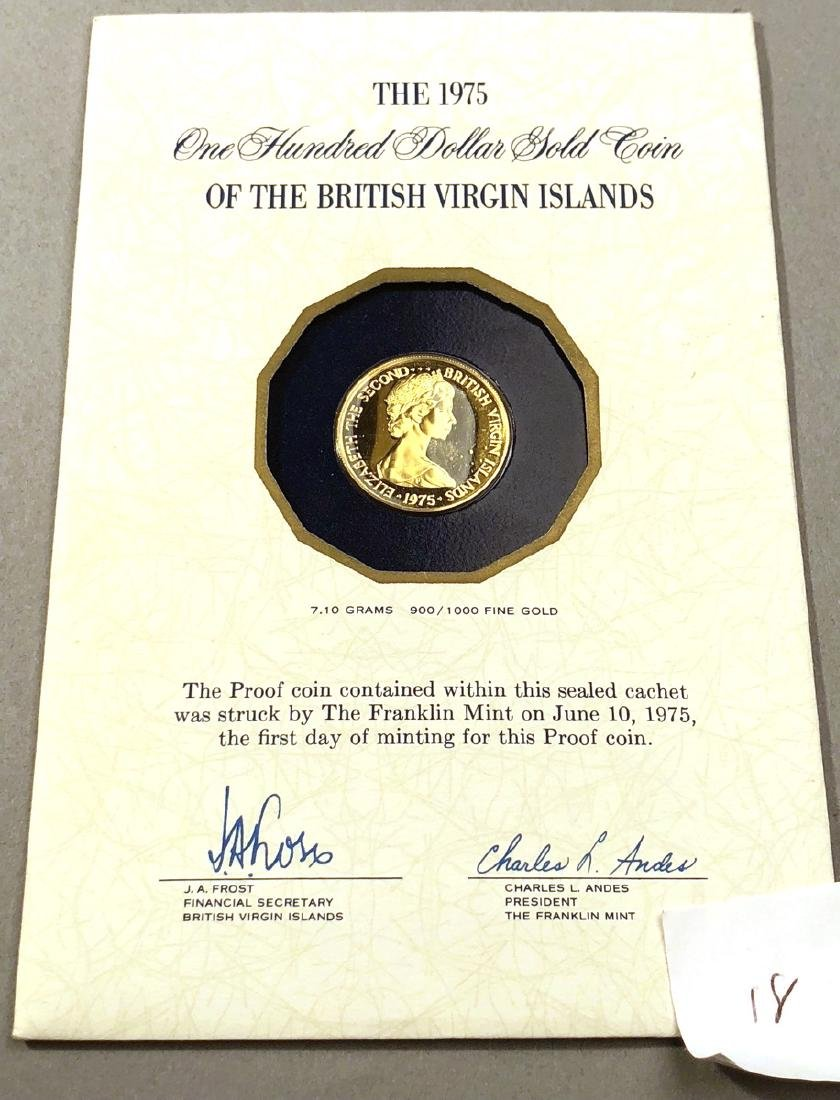 1975 British Virgin Islands One Hundred Dollar Go