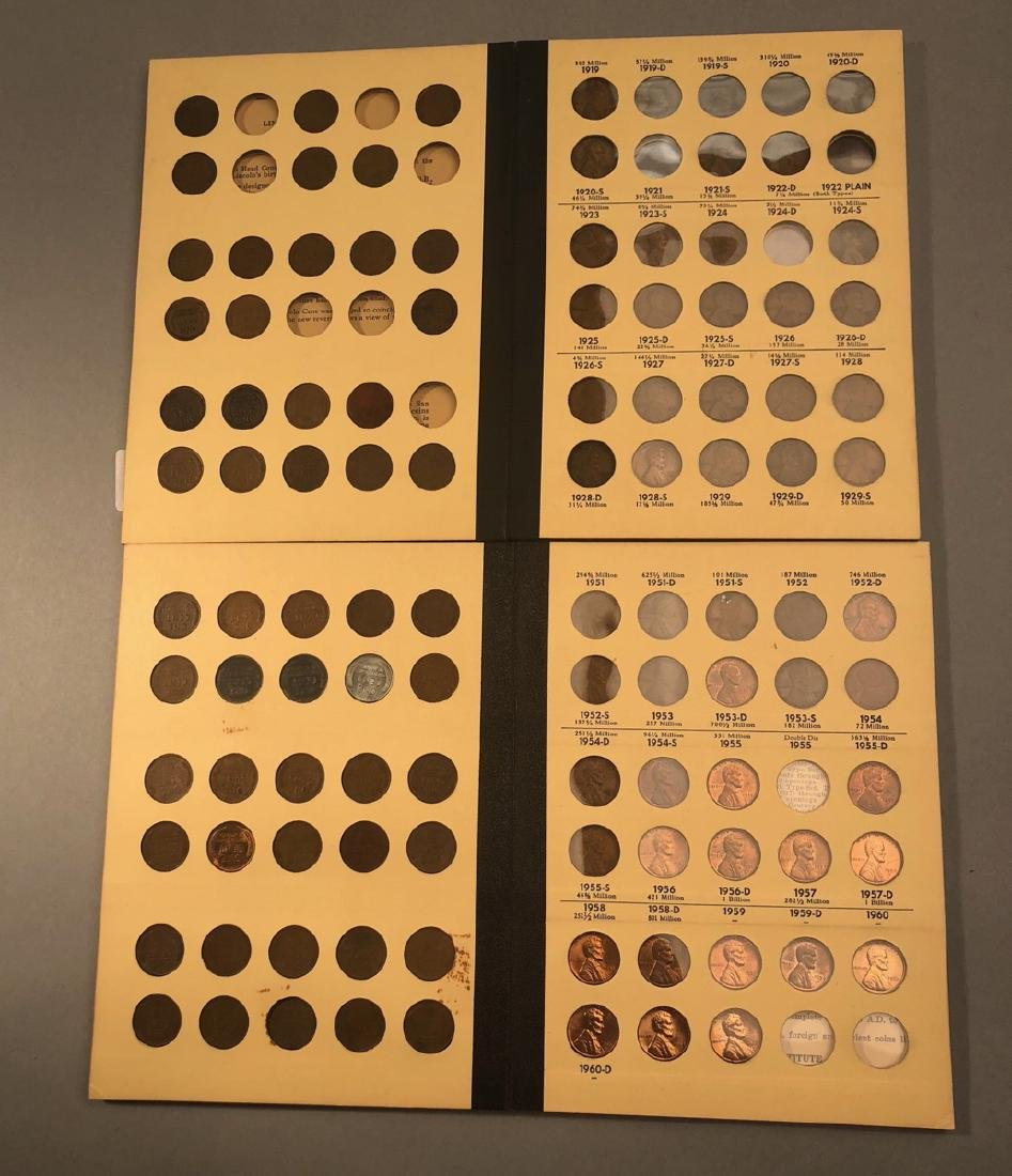 2 Books Of Pennies.  Lincoln Cents.  Not Complete