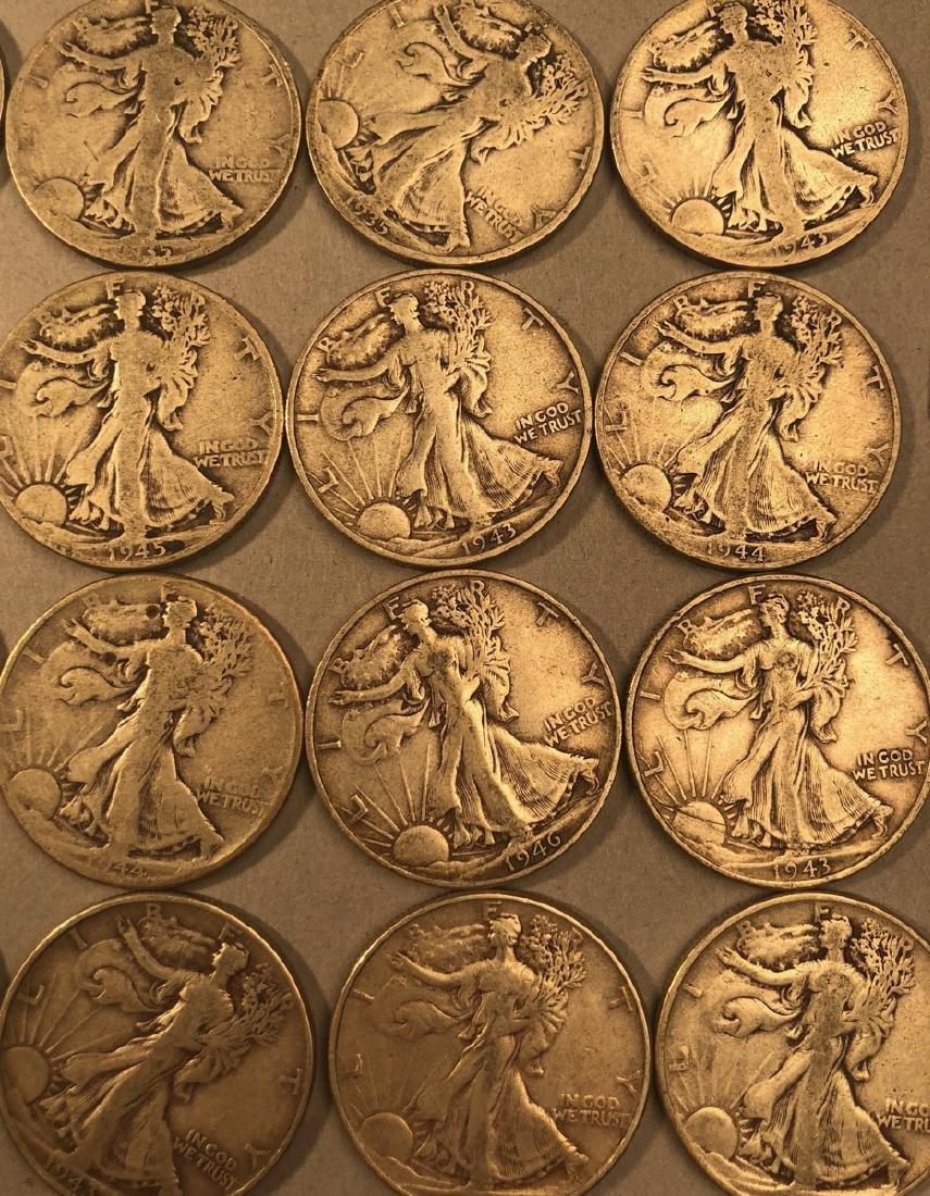 25 Silver Walking Liberty Half Dollars Coins.  $1 - 4