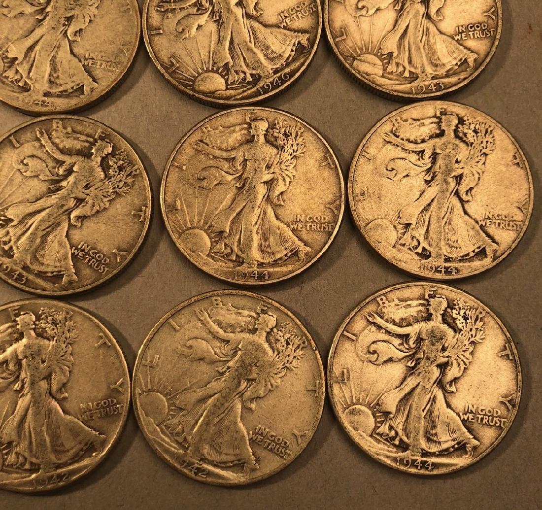 25 Silver Walking Liberty Half Dollars Coins.  $1 - 5