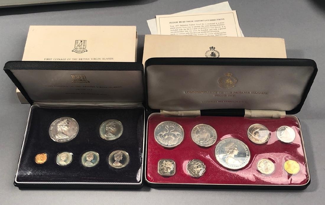 2 Proof Sets.  1973 First Coinage of the British