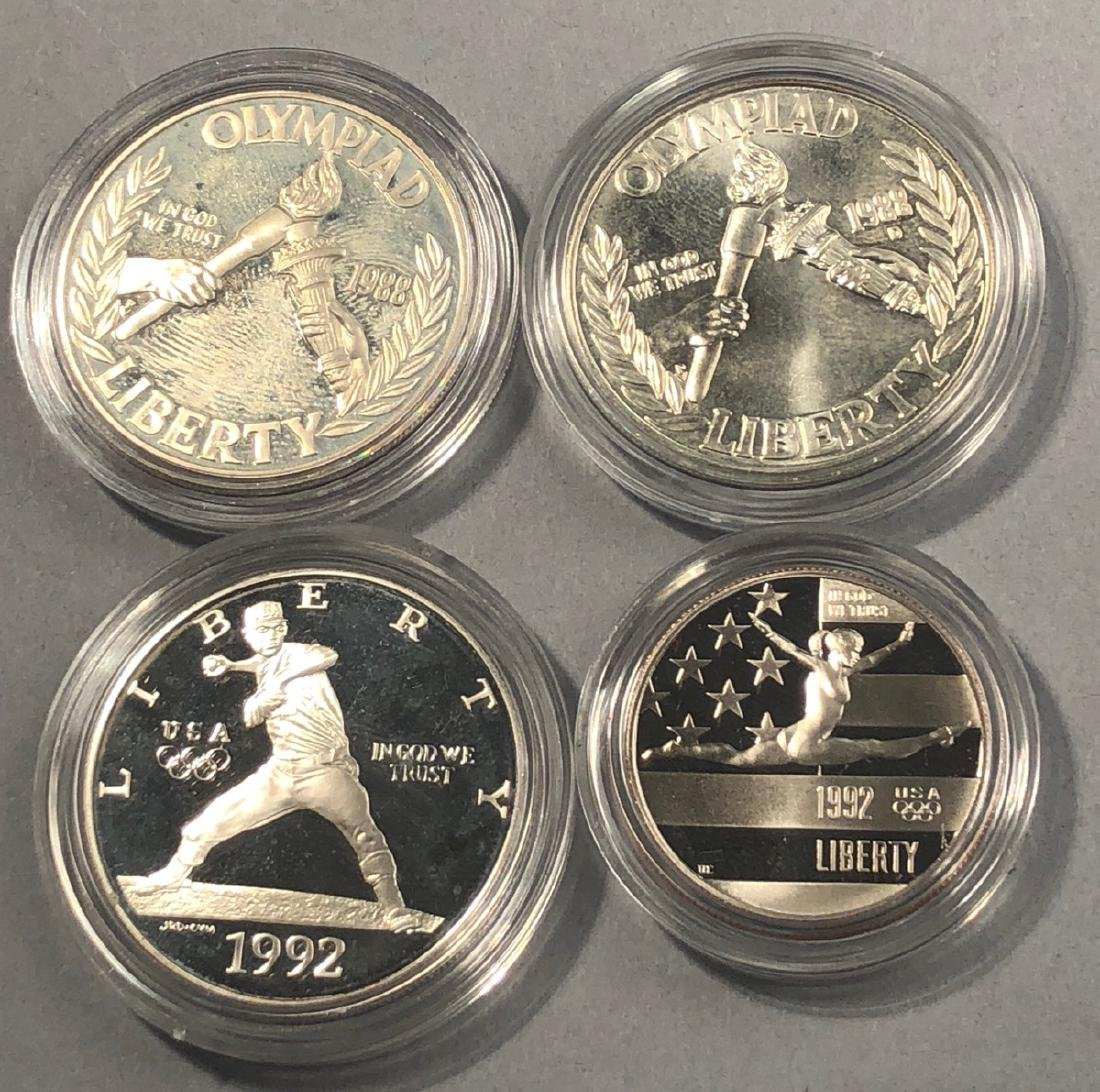 3pcs United States Mint Olympic Coins.  2 1988 Li