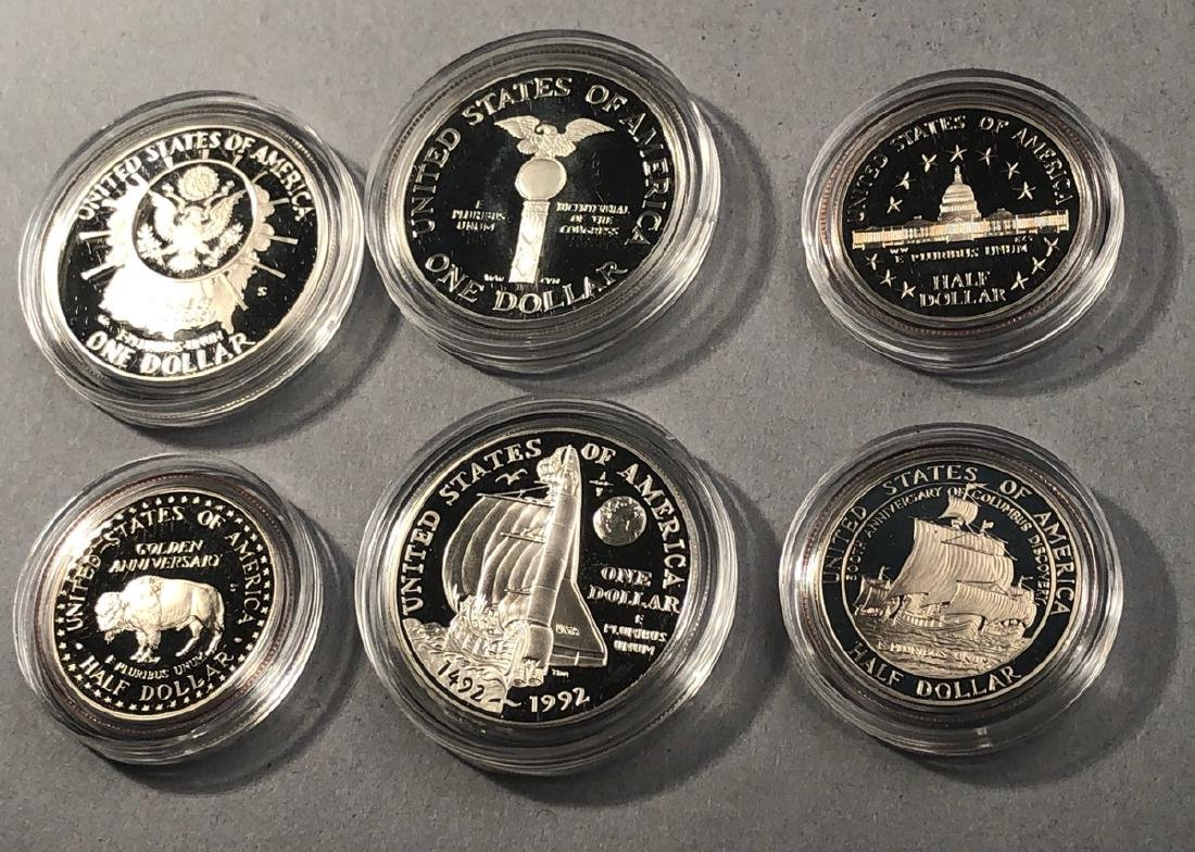 3pcs Silver 2 Coin Sets.  1989 United States Cong