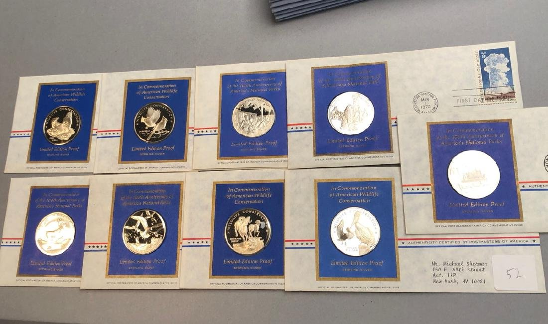 9pcs Sterling Limited Edition Proof Coins.  First