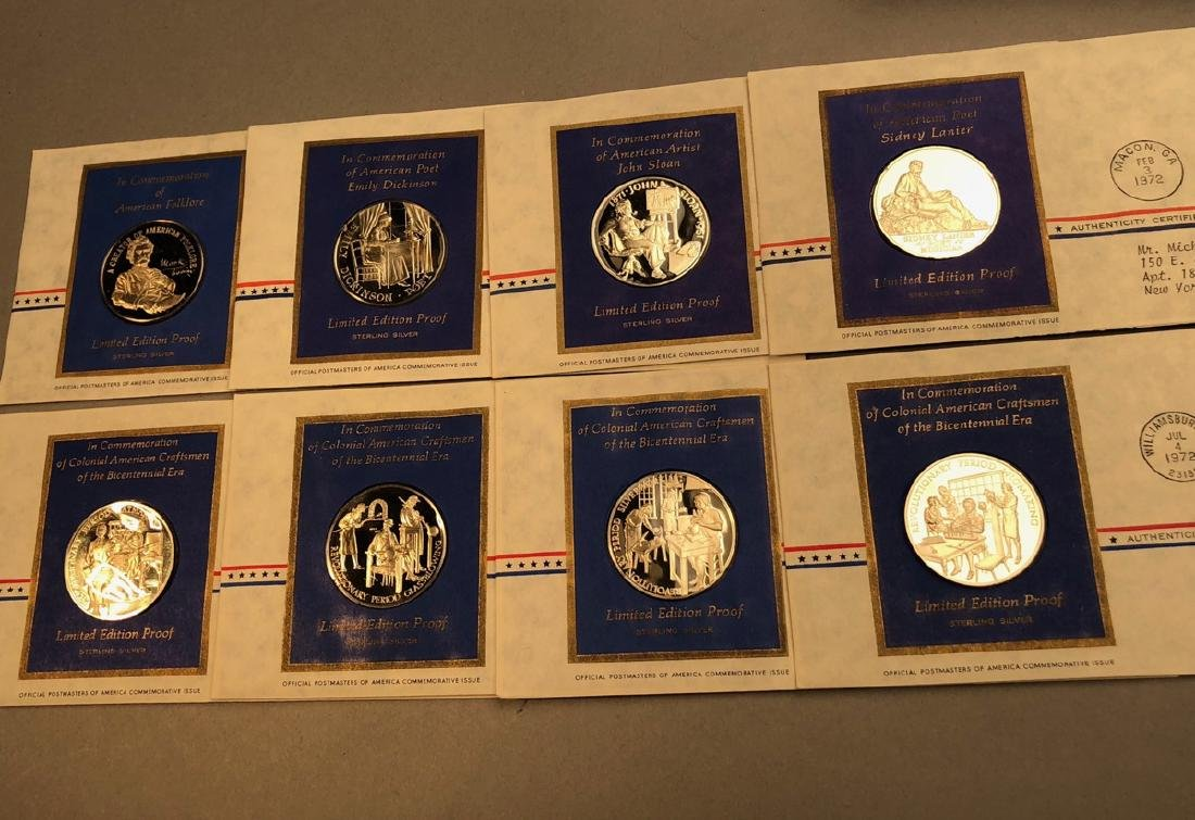 8pcs Sterling Limited Edition Proof Coins.  First