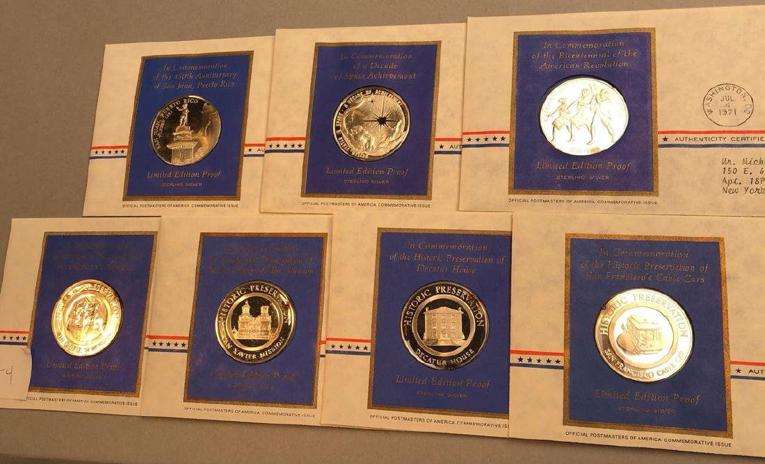 7pcs Sterling Limited Edition Proof Coins.  First