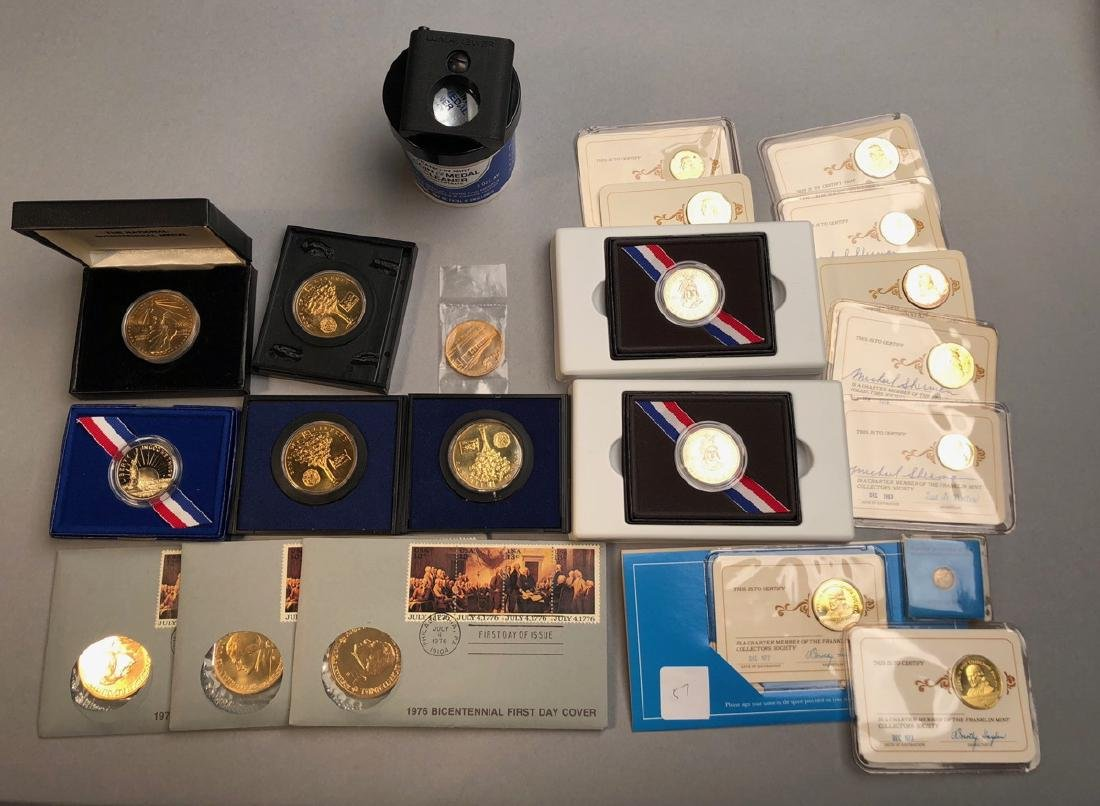 Mixed Lot Of Coins and Medals.  1986 Liberty Half