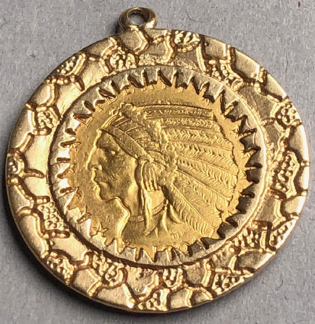 American Indian Five Dollar Gold Coin in 14K gold