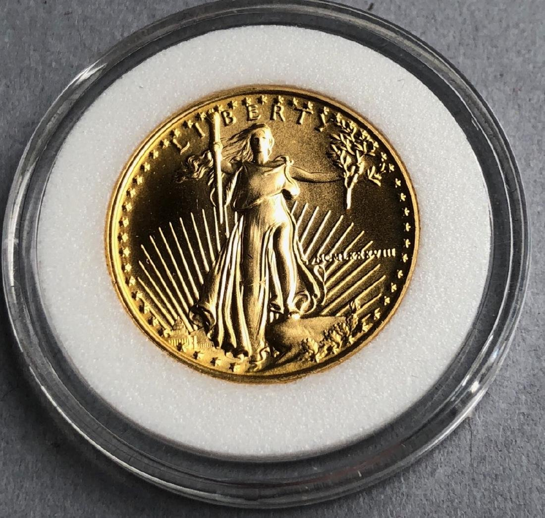 1988 American Liberty 10 Dollar Gold Coin.  1/4 o