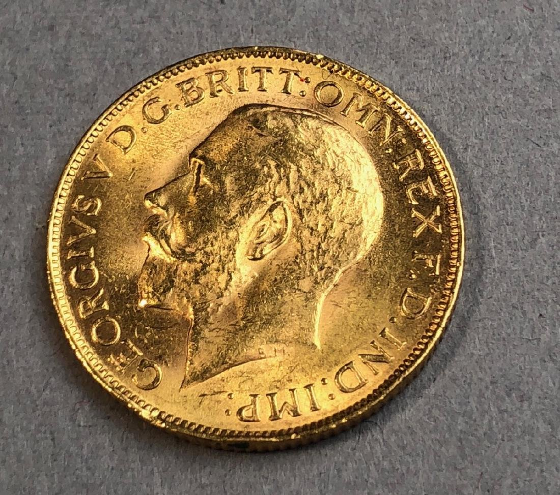 1927 SOUTH AFRICA GOLD SOVEREIGN  COIN.