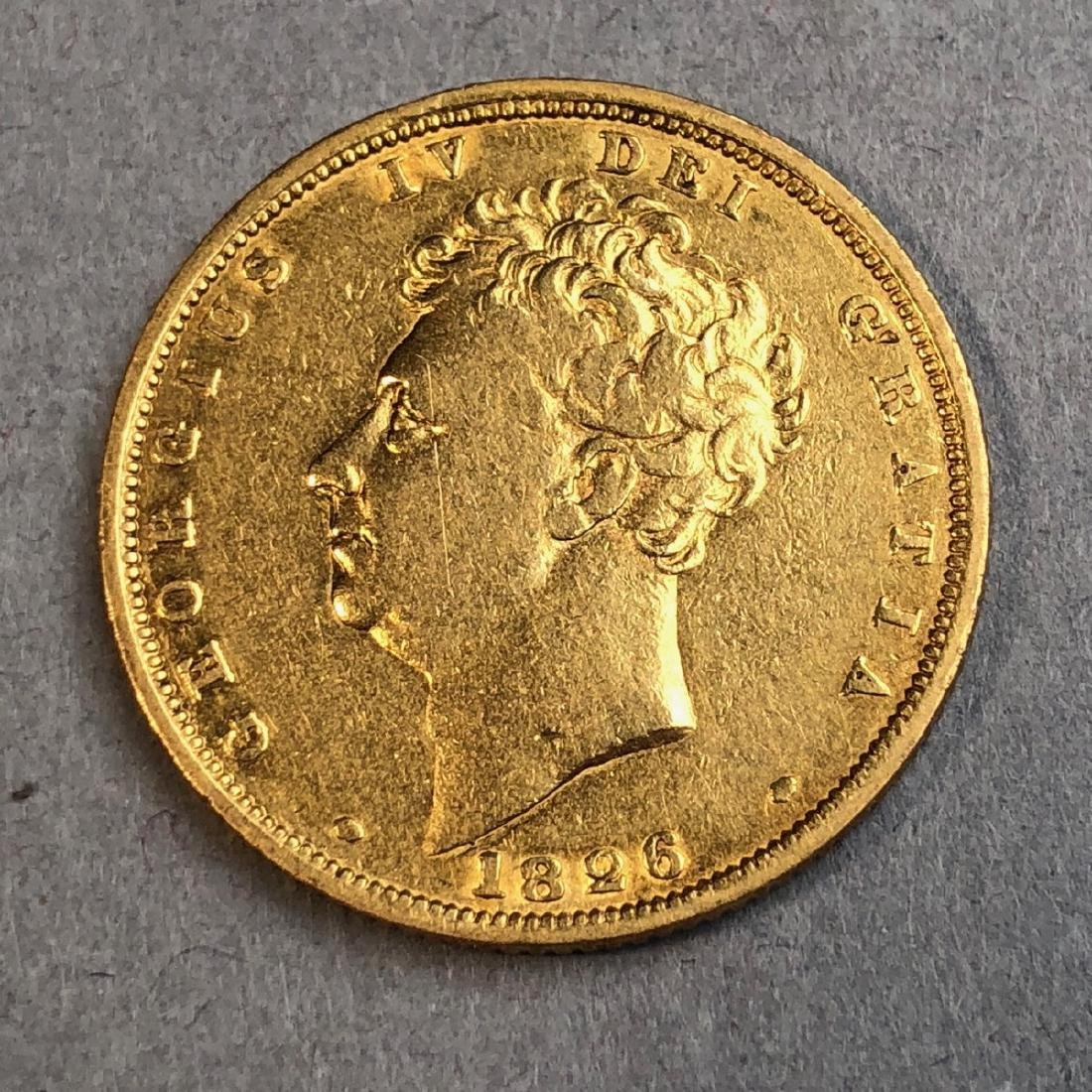1826 George IV Gold Sovereigns Coin